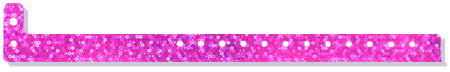 Tri-Laminate Liquid Glitter Wristbands with Plastic Snap